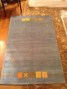 43837 indo gabbeh annodato a mano colori naturali cm 190 x 110